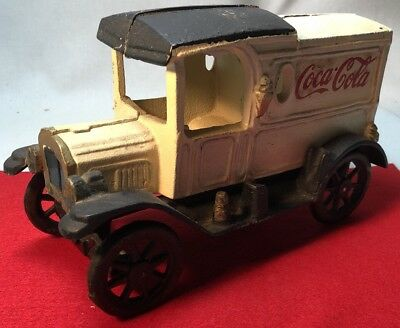 Vintage Cast Iron Coca Cola Cocacola Drink Delivery Truck Car Wagon, Very Nice