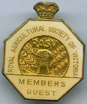 Royal Agricultural Society Of Victoria Member's Guest Badge Rasv
