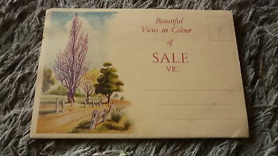 AUSTRALIAN OLD POSTCARD VIEW FOLDER. FROM THE 1950s SALE VICTORIA