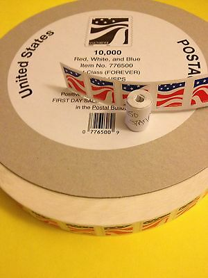 USPS 50 Hand Roll FOREVER STAMPS-1st Class Mail Red, White, Blue Scott #4894-97
