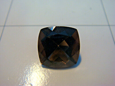 Smoky Quartz Princess Square Cut Gemstone 12 mm x 12 mm 6 carat Natural Gem