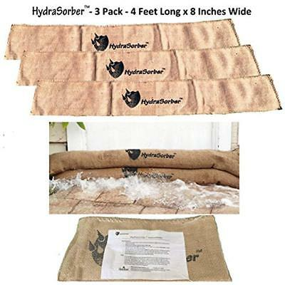 HydraSorber - Sandless Sandbags Water Absorbent Flood Barrier 4ft Long X 8in