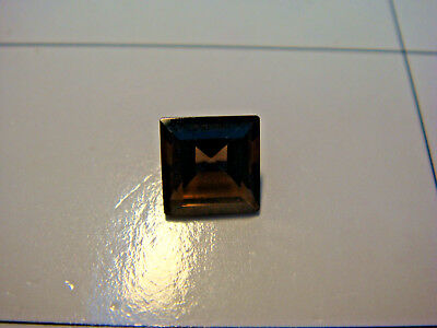 Smoky Quartz Princess Cut Gemstone 7 mm x 7 mm 1.5 carat Natural Gem
