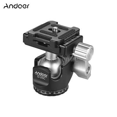 Andoer Aluminum 360° Camera Tripod Monopod Ball Head Quick Release Plate Mount