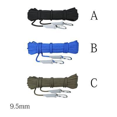 Climbing Rappelling Tree Static Rescue Rope Rock Arborist Cord Sling 10M  Hpal:)