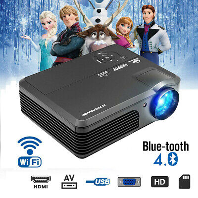 HD LCD Smart Home Theater Video Projector Android WIFI Bluetooth Airplay HDMI US