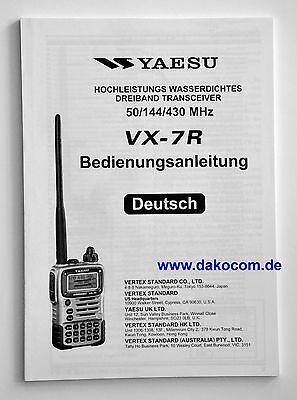 Yaesu VX-7R Original Bedienungsanleitung in Deutsch