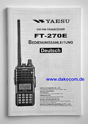 Yaesu FT-270E Original Bedienungsanleitung in Deutsch
