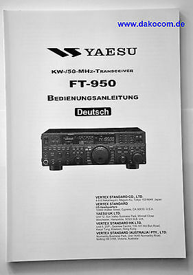 Yaesu FT-950 Original Bedienungsanleitung in Deutsch