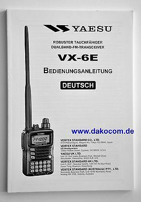 Yaesu VX-6E Original Bedienungsanleitung in Deutsch