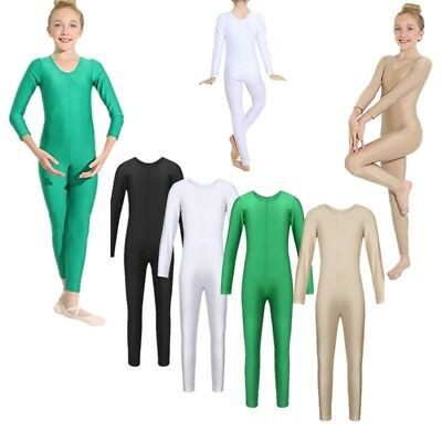 Kids Girls Ballet Dance Gymnastics Leotard Jumpsuit Full Body Dancewear Unitard