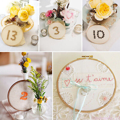 Wooden Frame Hoop Bamboo Ring Hand Embroidery Wreath Cross Stitch Craft 13-34cm