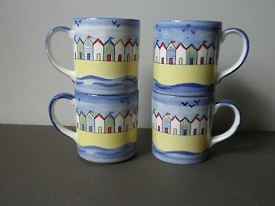 Poole Pottery Beach Huts Original Mugs