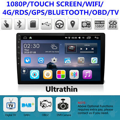 Android 6.0 Double 2Din Quad-Core Car Stereo Radio GPS FM 10.1 INCH Mirror Link
