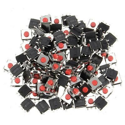 100pcs 6*6*3mm 5PIN SMD Red Tactile Push Button Switch Tact Switch 6mm*6mm*3mm