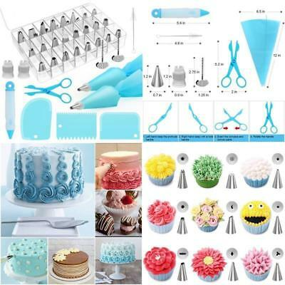 42 Pieces Cake Decorating Tools Supplies Kit Tips Icing Bags Piping Nozzles Set