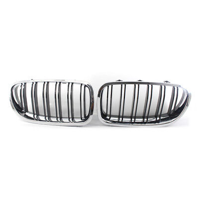 11-16 GLOSS BLACK CHROME + BLACK FRONT RACING GRILLE FOR BMW 5 Series F18 / F10
