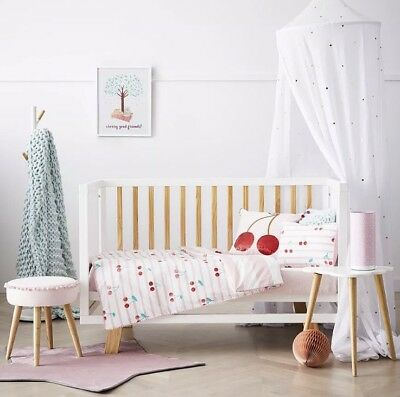 Brand new Adairs kids CHERRY BABY cot quilt cover set RRP $99.95