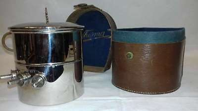 1930s, chrome / thermo cooker with matching leather container!