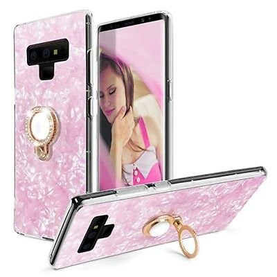 For Galaxy Note9 Note8 Bling Diamond Ring Holder Shockproof Marble Case Cover