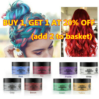 Fashion Sevich Temporary Hair Color Wax Mud Dye Styling Cream DIY Coloring