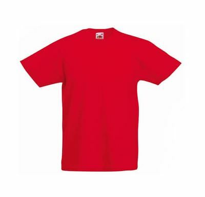 Fruit of the loom KINDER T-Shirt, rot