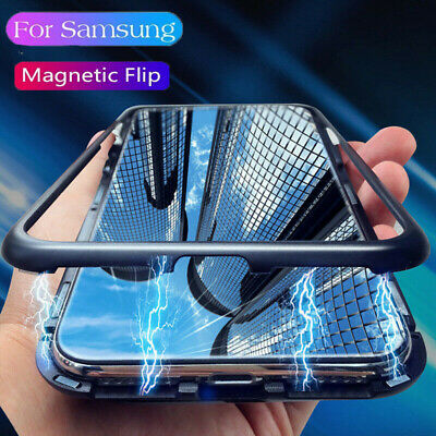 Magnetic Absorption Temper Glass Case Cover For Samsung Galaxy Note 9 S8 S9 Plus