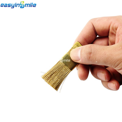 1Pc EASYINSMILE Autoclavable Bur Cleaning Brass Flat Wire Brush Dental Lab Tools