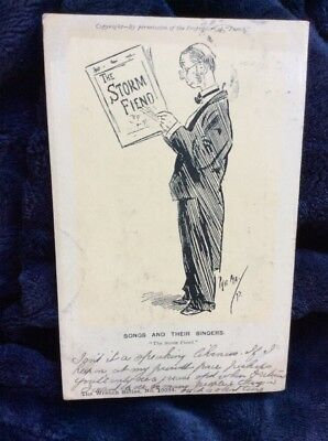 Vintage Punch Postcard Wrench Serie. Signed Phil May.