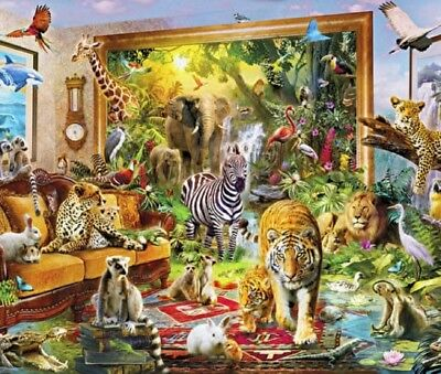 Wentworth Wooden Puzzle Mini 40 Piece Animal Wildlife Jigsaw Coming To Life