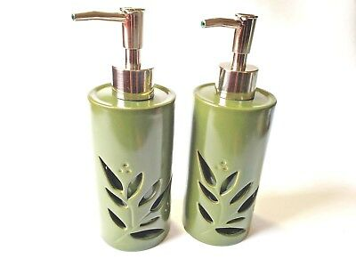 Decorative Bathroom Hand Soap/Lotion Dispenser - Shadow box Leaf Design
