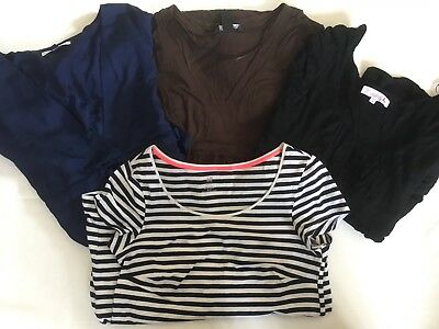 4 Maternity Dresses Small / Size 8 Bundle Mid/short H&M Mama, Navy, Brown, Black
