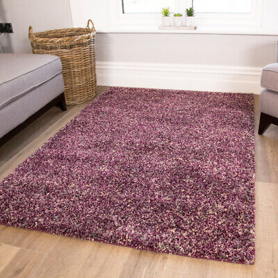 Mottled Purple Grey Plum Shaggy Rugs