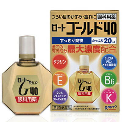 Rohto Gold 40 Maximum Content of Vitamins Medicated Eye Drops 20mL