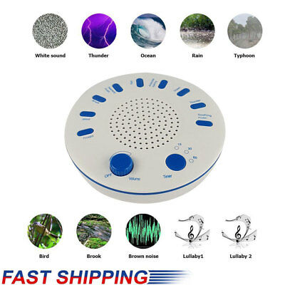 White Noise Therapy Sound Soothing Sleep Relax Machine Nature Sounds Sleep Aid