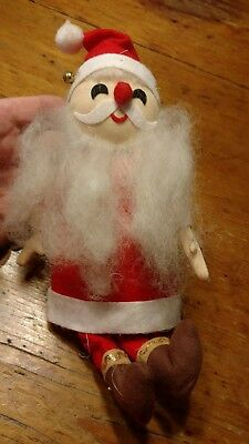 Vintage Santa Claus - Christmas Doll Figurine - Felt - Japan - 8""