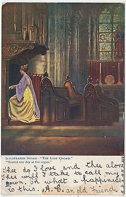 * RAPHAEL TUCK - Illustrated Songs - The Lost Chord -  Oilette #1159 - 1905