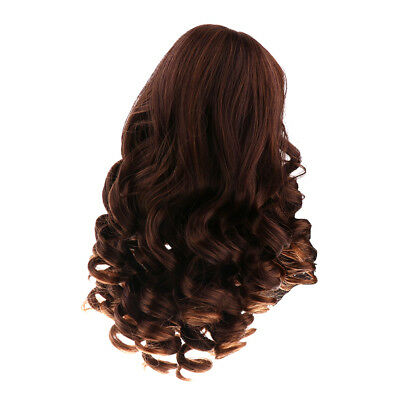 40cm Fashion Dolls DIY Hair Wig Hairpiece for 18'' American Girl Doll Black