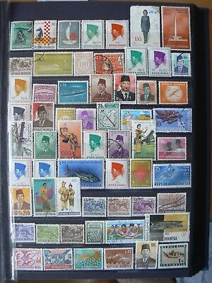 Collection Of Indonesia Indonesian Stamps
