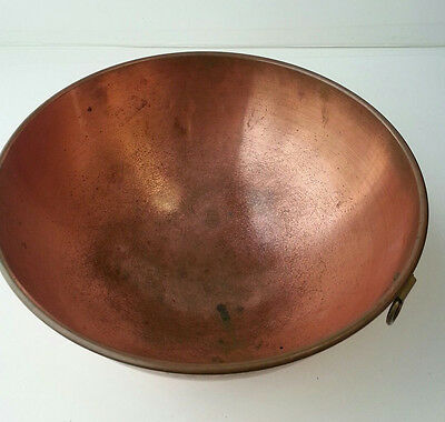 Vintage Copper 5 Qt Mixing Bowl with Brass O Ring