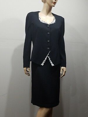 ST JOHN Evening  By Marie Gray Size 10 Santana Knit Skirt Blazer Jacket Suit