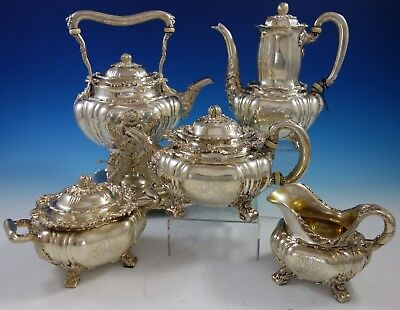 Chrysanthemum by Tiffany & Co. Sterling Silver Tea Set 5pc (#2798) Magnificent!