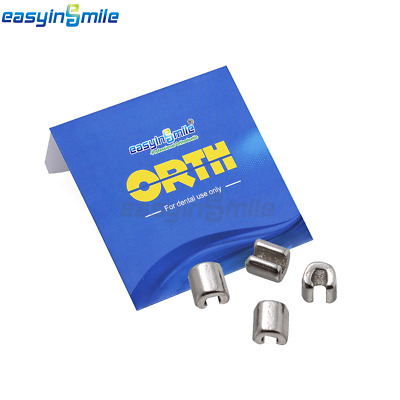 EASYINSMILE 10/Pack Dental Orthodontic Long Curved Crimpable Hooks Sliding ball