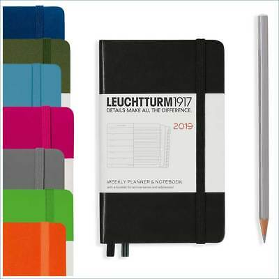 Leuchtturm1917 A6 Pocket Weekly Planner with Notebook 2019