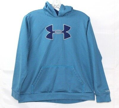 Girls UNDER ARMOUR Storm Hoodie Sweatshirt Sweater Blue YXL XL Blue