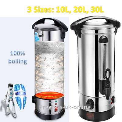 XL COMMERCIAL STAINLESS Steel Tea Urn Electric Catering Hot Water ...