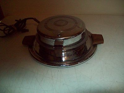 Antique Waffle Iron American made Manning Bowman 1933 patent model 1650