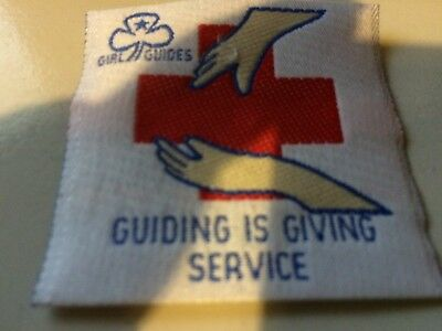 Girl Guides / Scouts Guiding is Giving Service