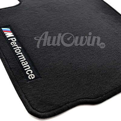 BMW Z4 Series E89 Black Floor Mats With M Performance Logo Clips RHD UK NEW