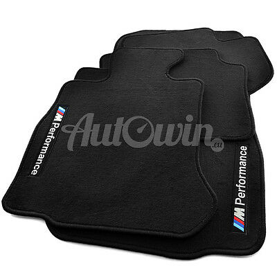 BMW X3 Series F25 Black Floor Mats With M Performance Logo Clips RHD UK NEW